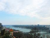 Panoramic view of Bratislava city Slovakia