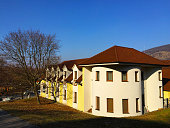 Bratislava Slovakia - 02/13/2017 : house near Devin Castle in Bratislava Slovakia