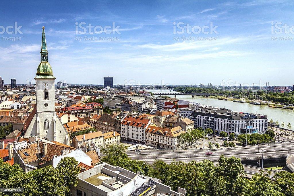 Bratislava skyline stock photo