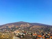 village view near mountain with blue sky in Bratislava Slovakia