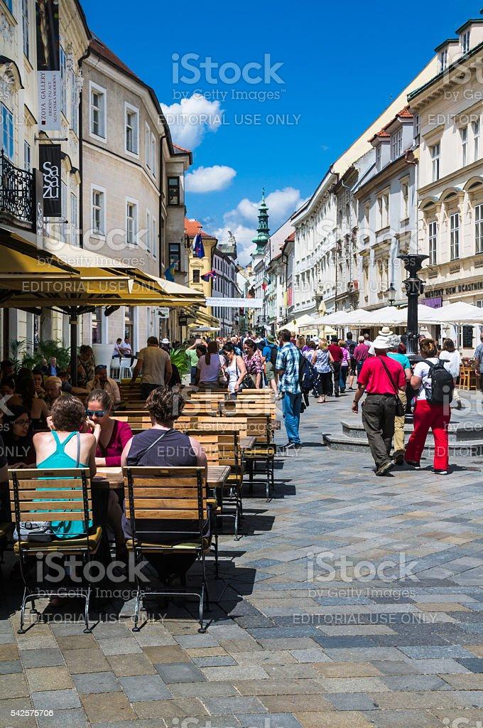 Bratislava Street Scene stock photo