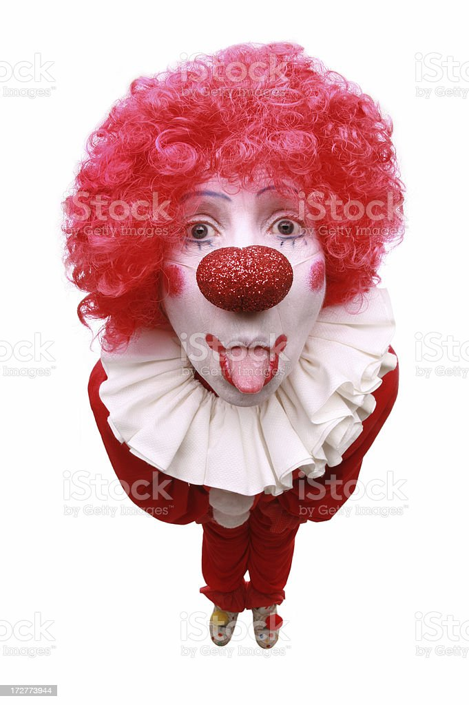 Bratty Clown royalty-free stock photo