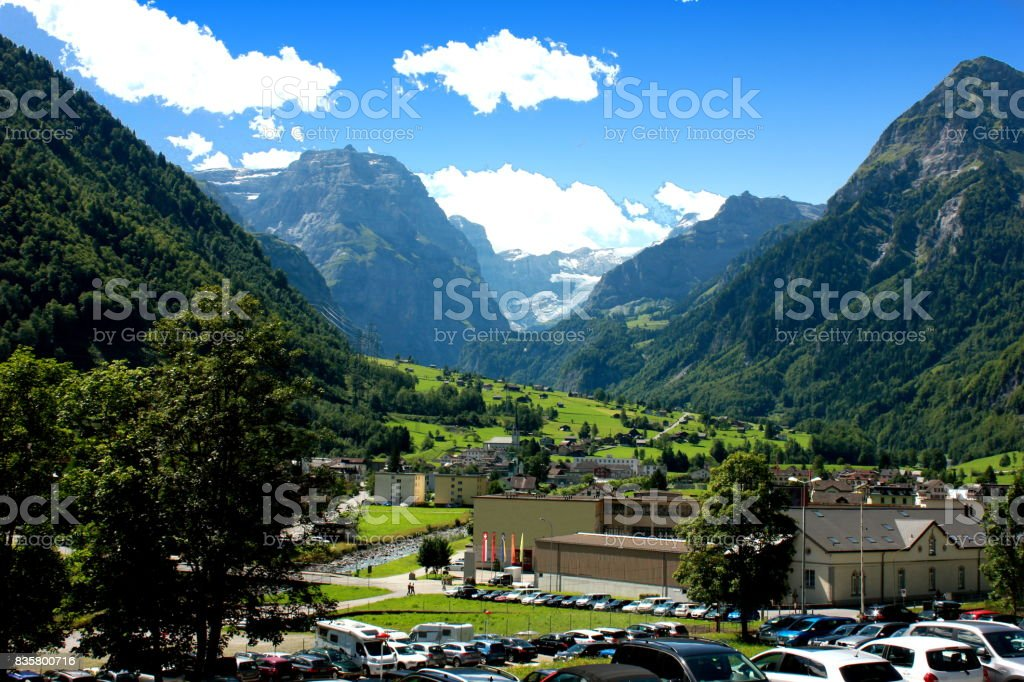 Braunwald village, Switzerland stock photo