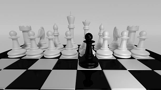 brave black pawn - defection stock photos and pictures