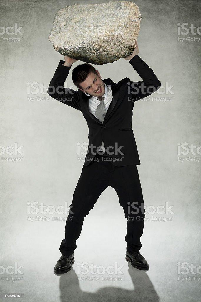 brave businessman stock photo