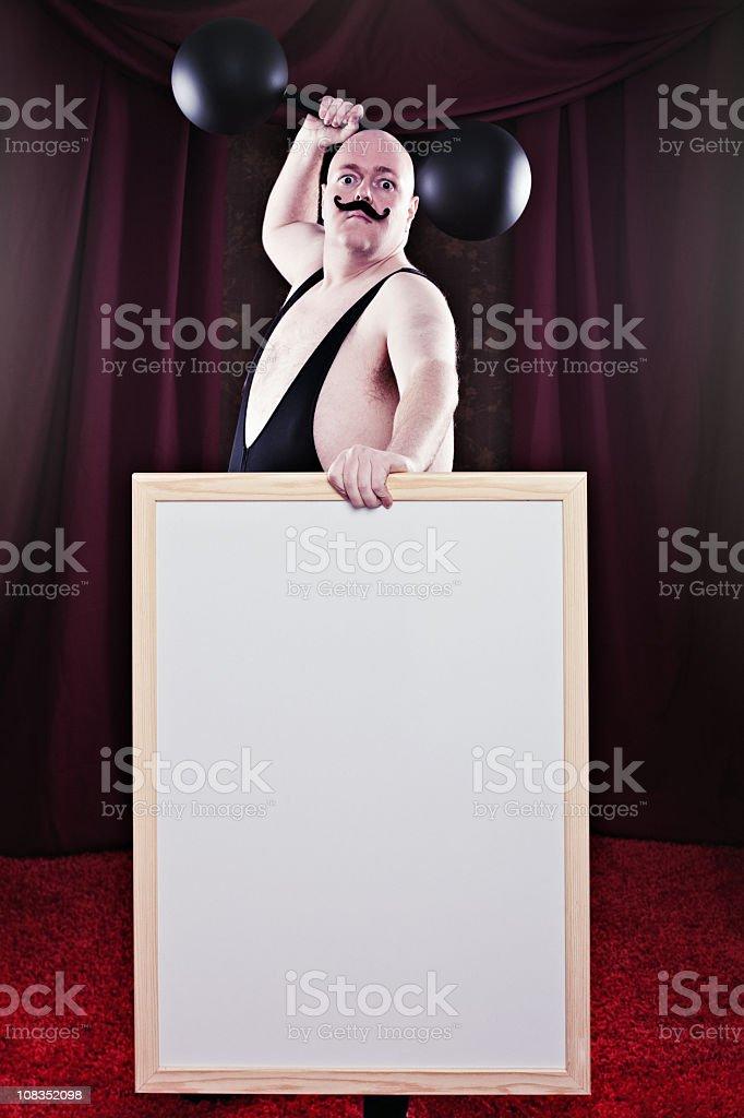 Brave Strongman stock photo