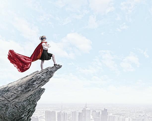 brave superkid - superwoman barn bildbanksfoton och bilder
