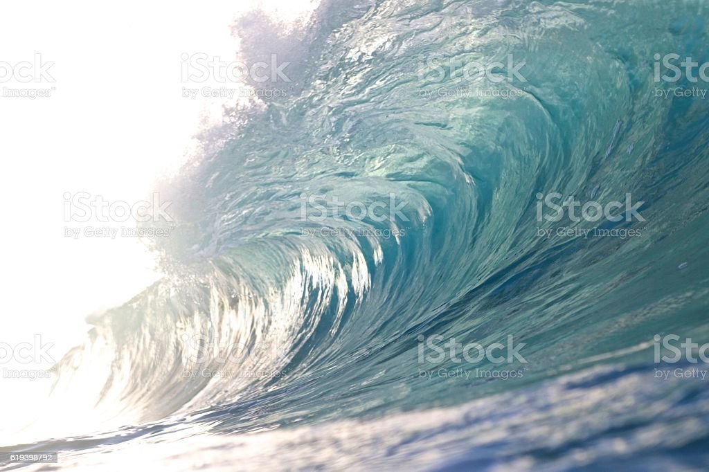 Brave wave stock photo