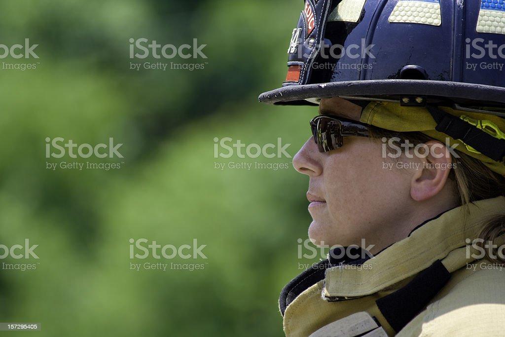 Bravery - Female Paramedic/Firefighter stock photo