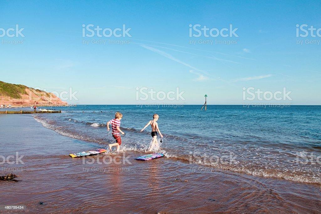 Braving the sea stock photo