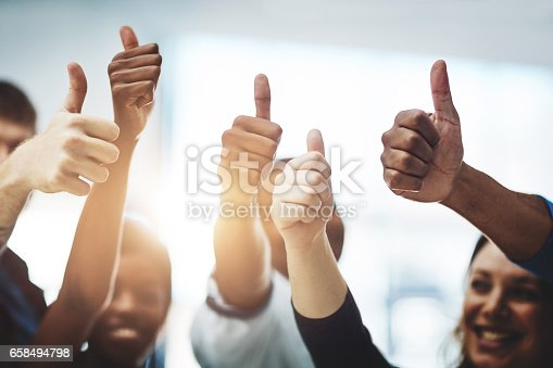 istock Bravo on your business accomplishment! 658494798