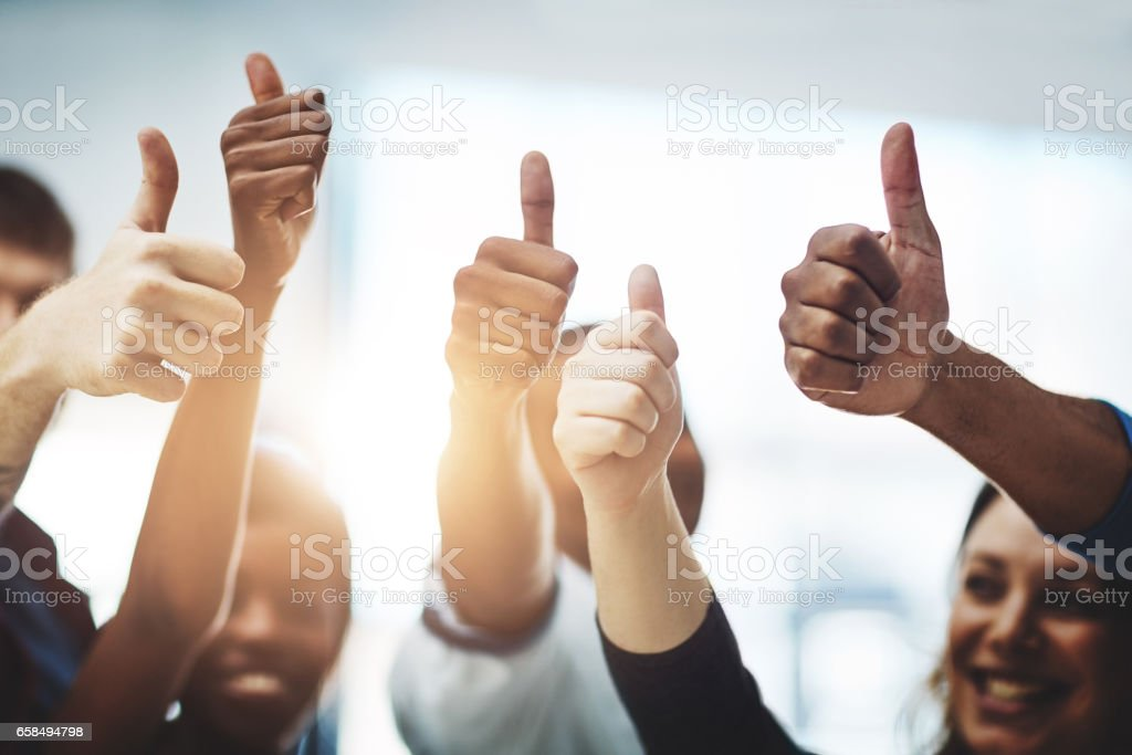 Bravo on your business accomplishment! stock photo