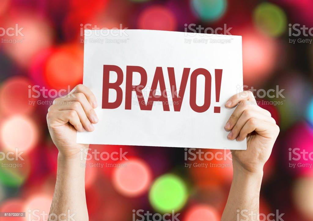 Bravo - foto de acervo