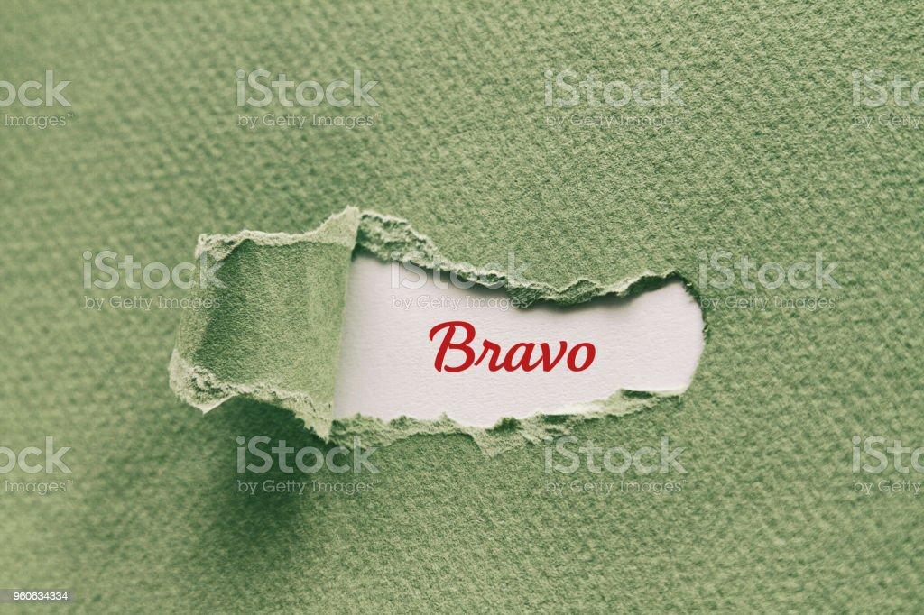 Bravo stock photo