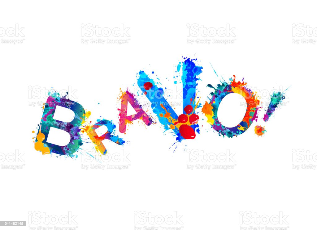 Bravo! Splash paint vector word stock photo