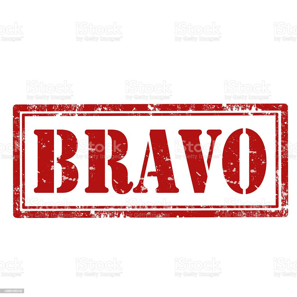 Bravo-stamp stock photo