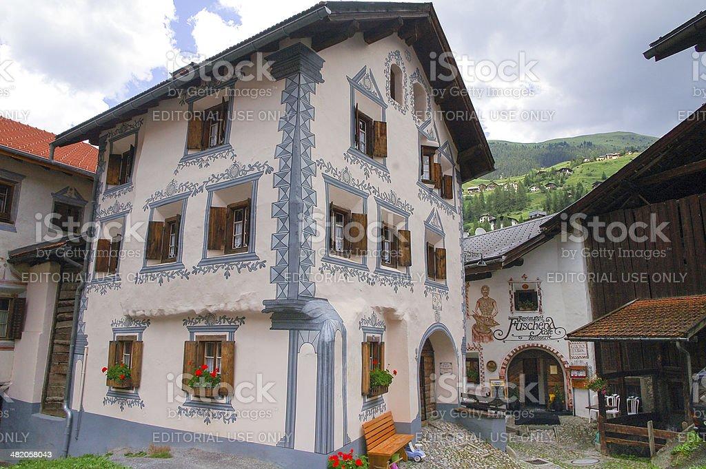 Bravuogn (Bergun, Engadine, Graubunden, Switzerland) stock photo