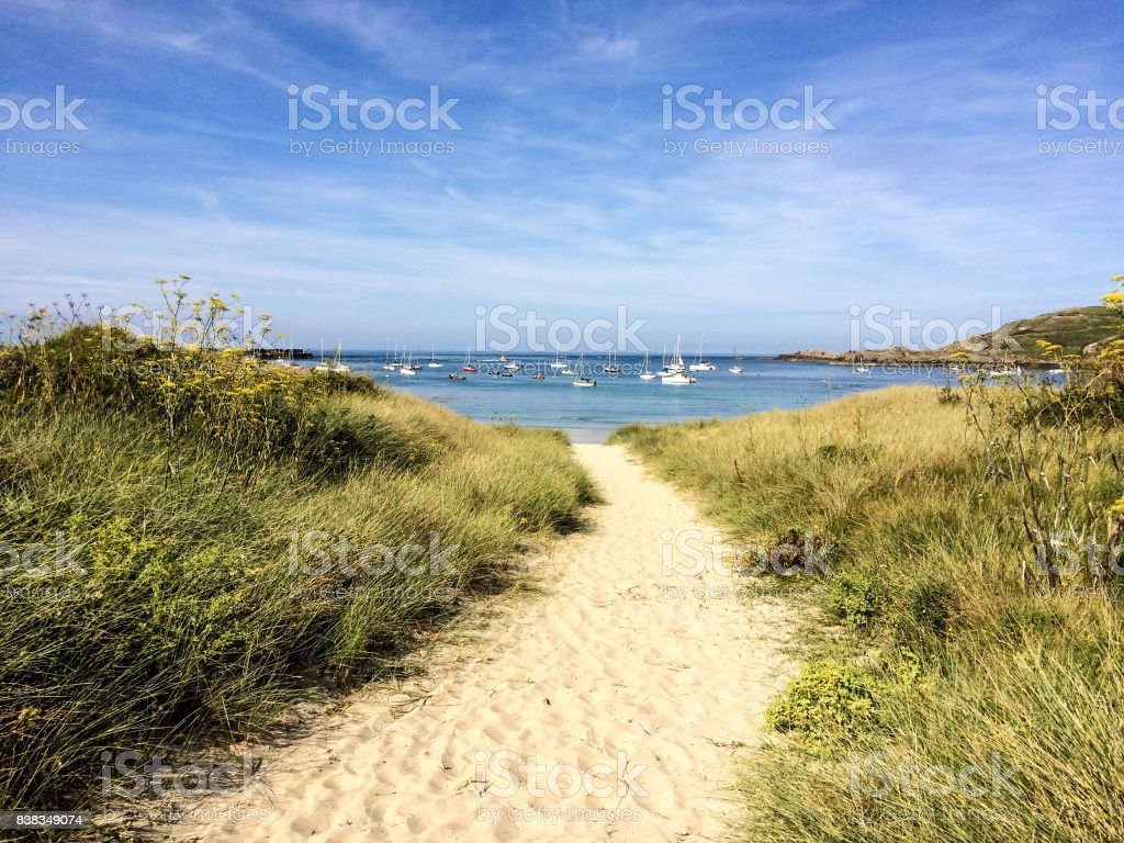 Braye beach, Alderney stock photo