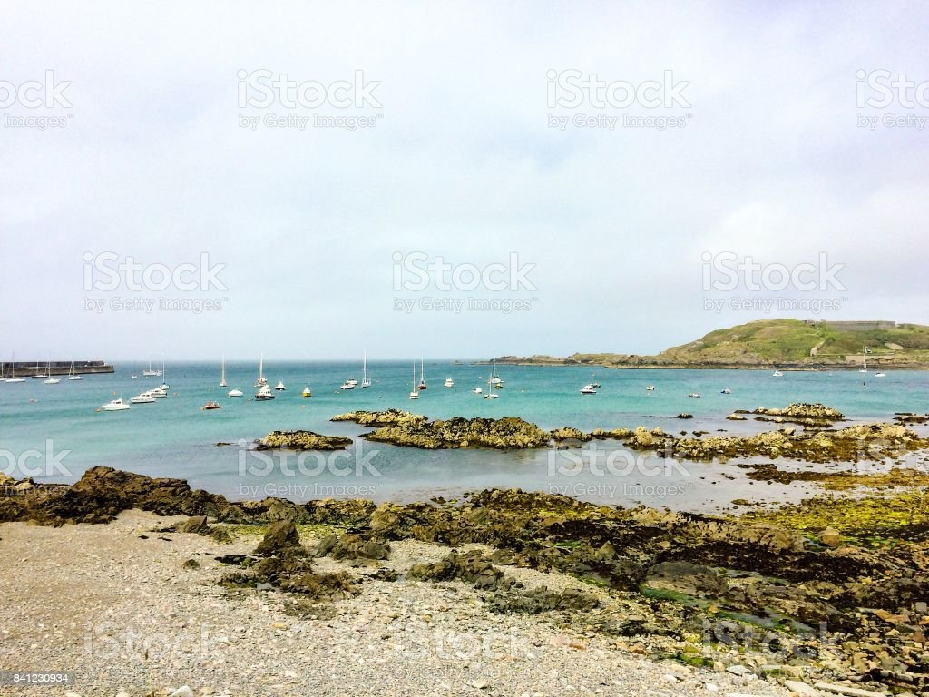 Braye Harbour, Alderney stock photo