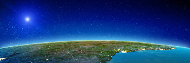 Brasilien Atlantikküste aus dem All – Foto