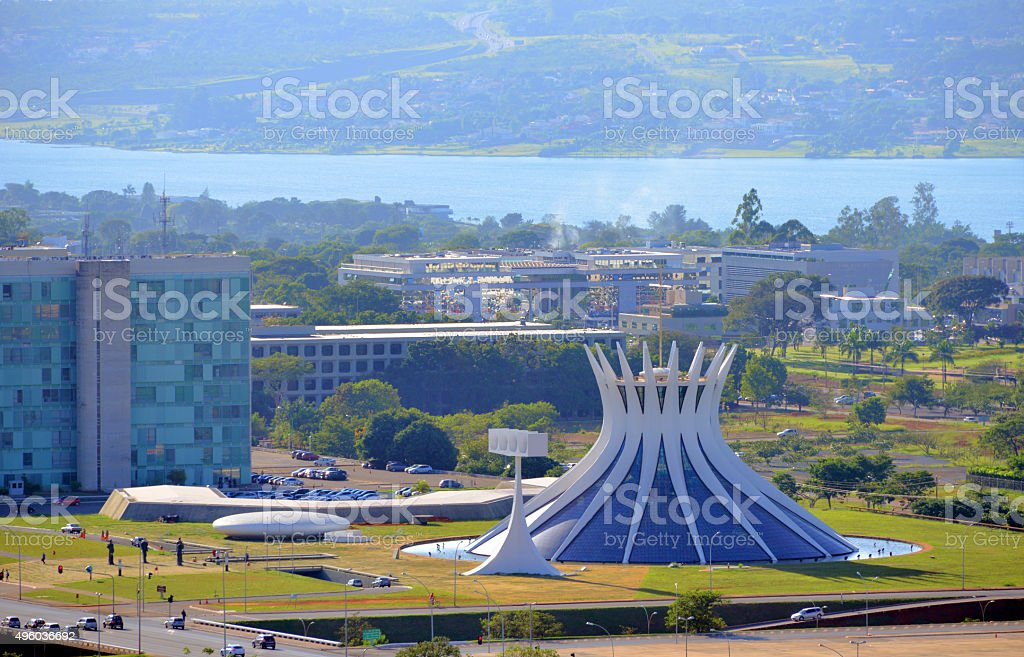 Brazil, Brasilia - Lake Paranoá stock photo