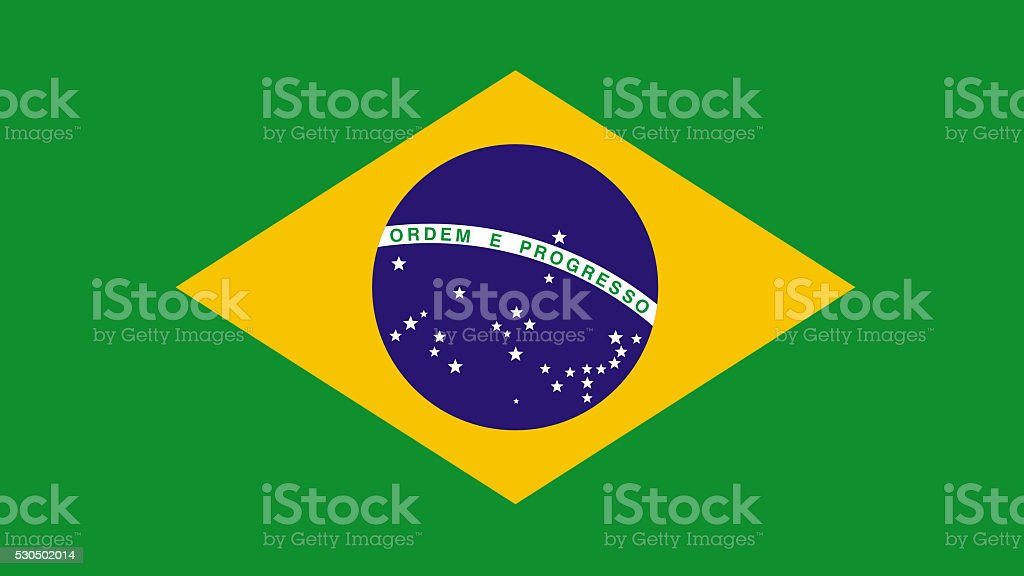 Brazil - brazilian flag stock photo