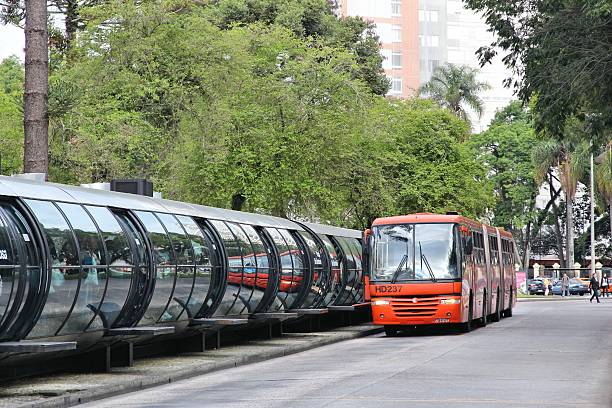 brazil bus - curitiba stock photos and pictures