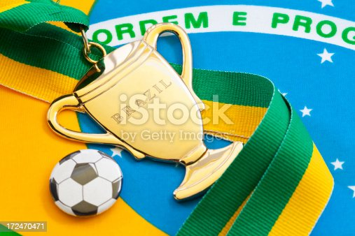 istock Brazil Cup Medal 172470471