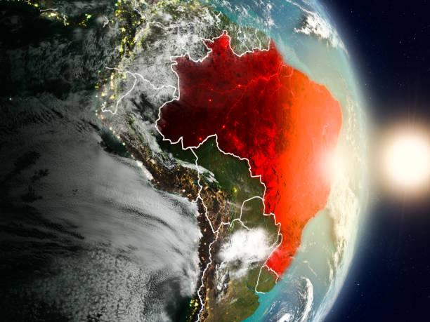 Brasil durante o nascer do sol - foto de acervo