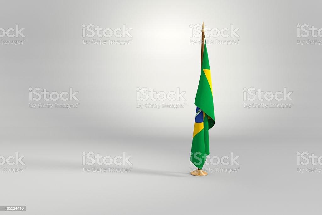 Brazil flag 3D illustration stock photo