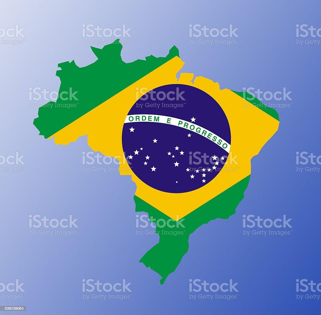 Brazil flag map royalty-free stock photo