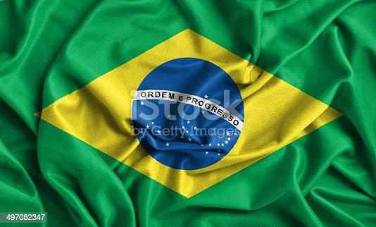 istock Brazil flag 497082347