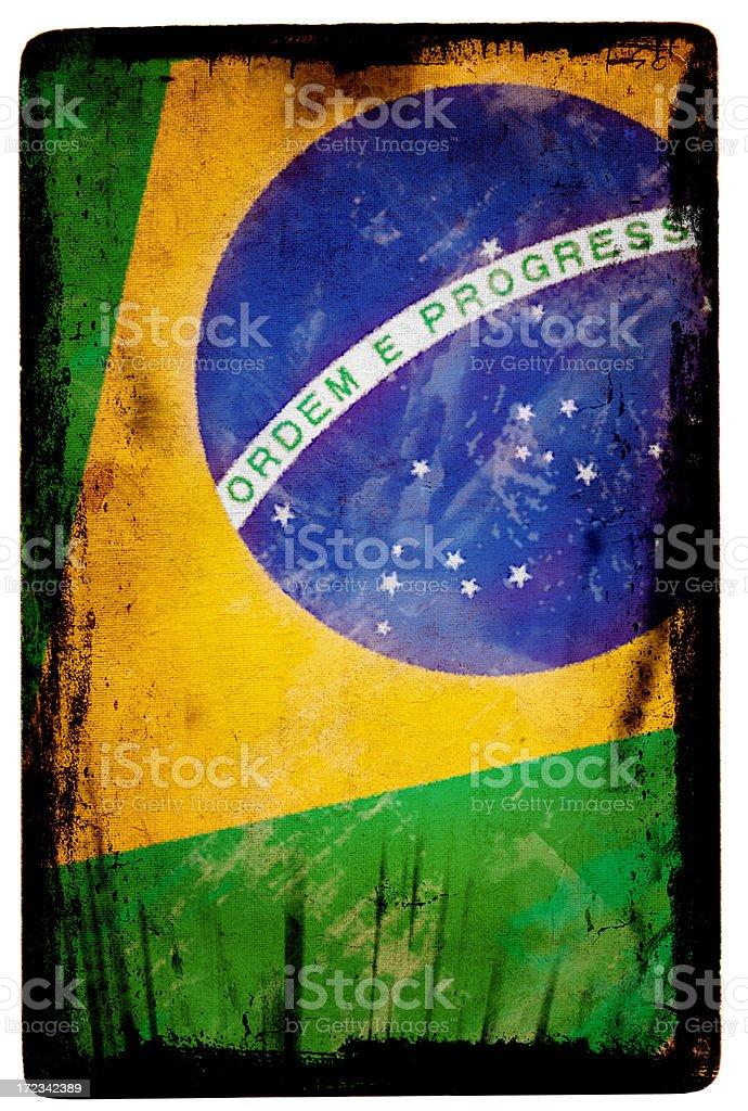 Brazil Flag XXL royalty-free stock photo