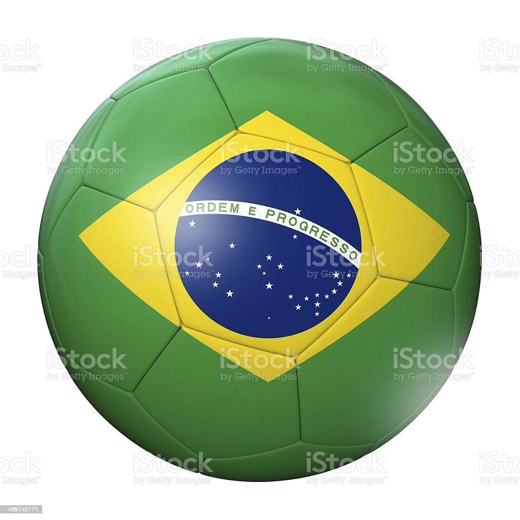 Brazil Football royalty-free stock photo