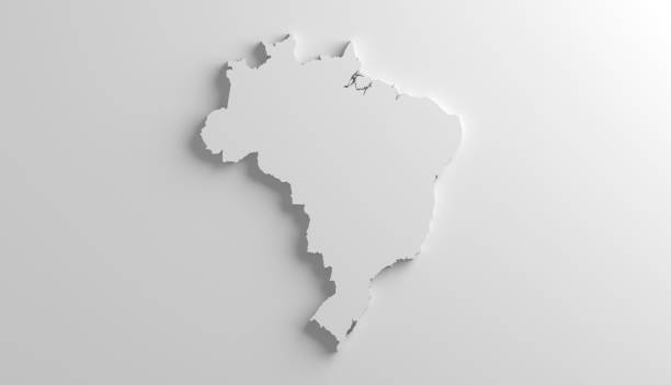 brazil geography - continent geographic area stock photos and pictures