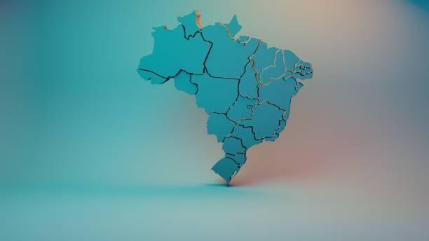 brazil map - бразилия стоковые фото и изображения