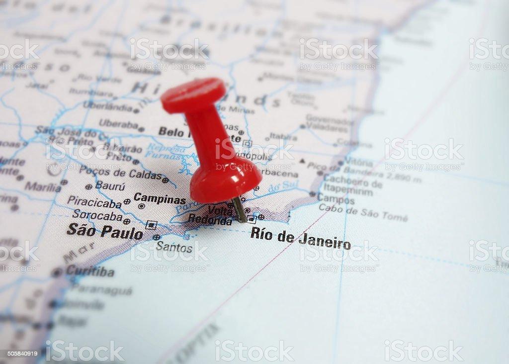 Brazil map stock photo