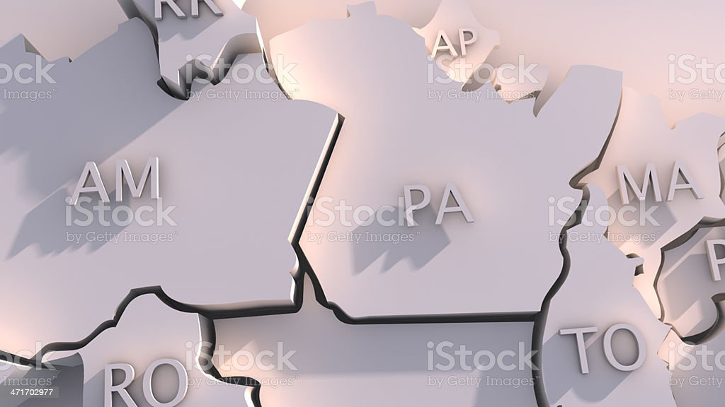 Mapa com membros do Brasil - foto de acervo