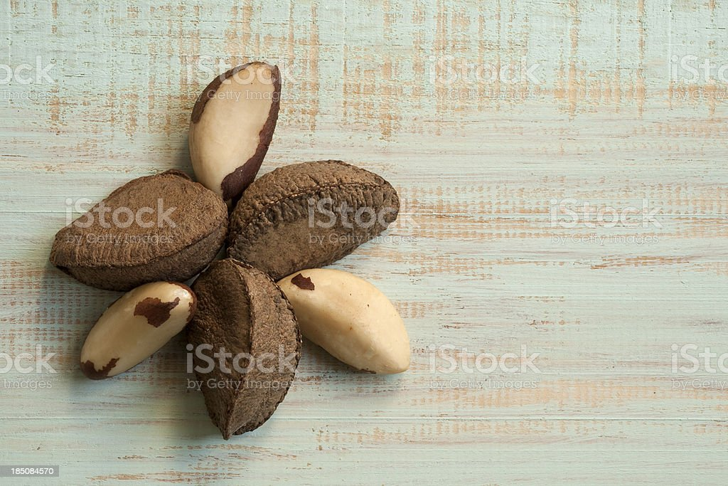 Brazil nut seeds stock photo