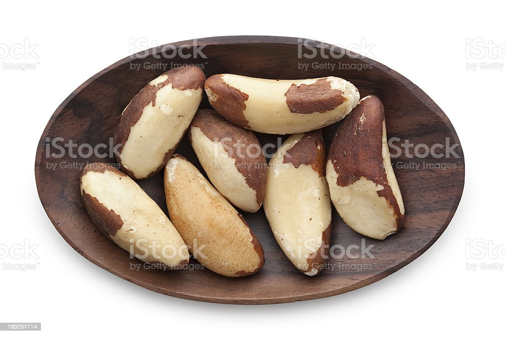 Brazil nuts stock photo