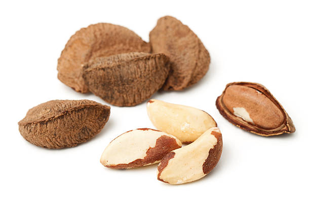 Brasil nuts stock photo