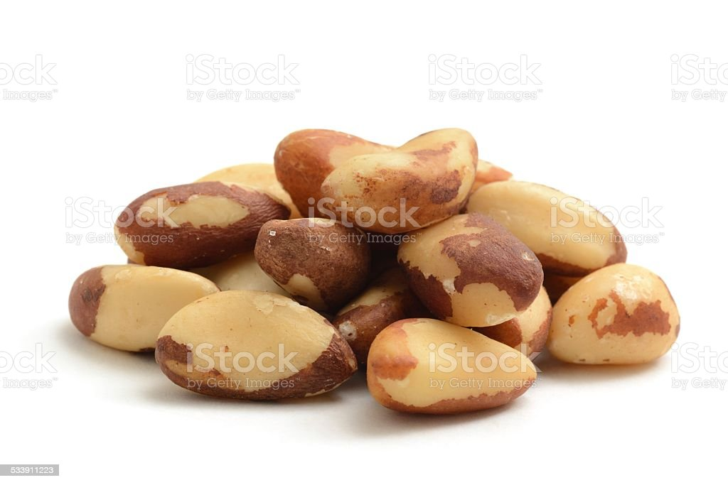 Brazil nuts shelled stock photo