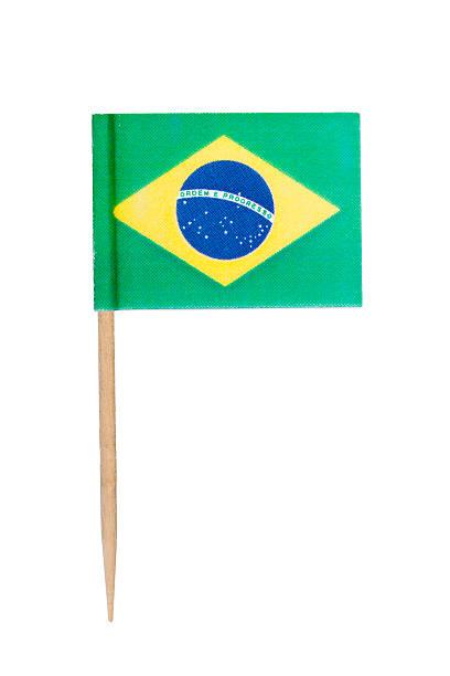 Brazil paper flag foto