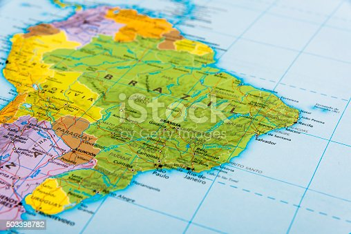 The continent of South America