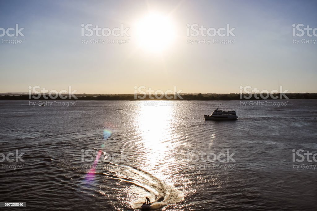 Brazil Porto Alegre Sunset Sea stock photo
