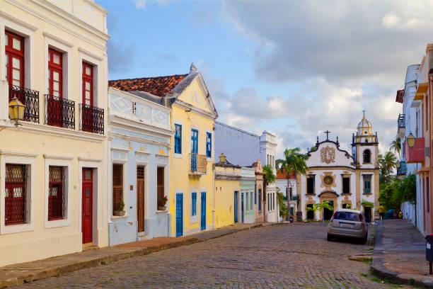 brasil. recife. olinda. a basílica e mosteiro de são bento. - recife e olinda - fotografias e filmes do acervo