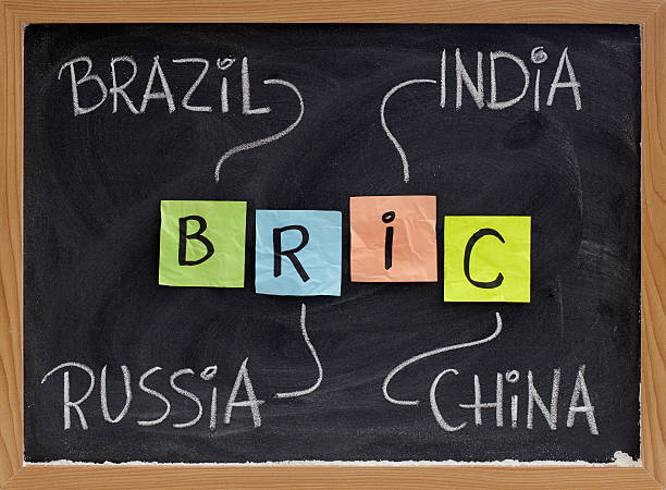 Brazil, Russia, India and China - BRIC stock photo