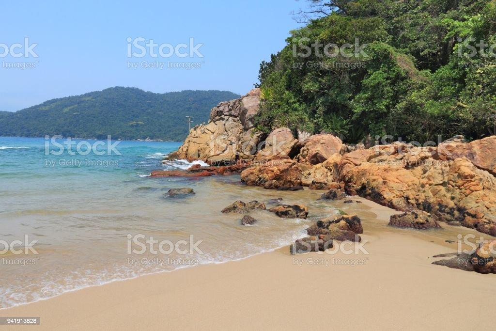 Brazil sandy beach stock photo