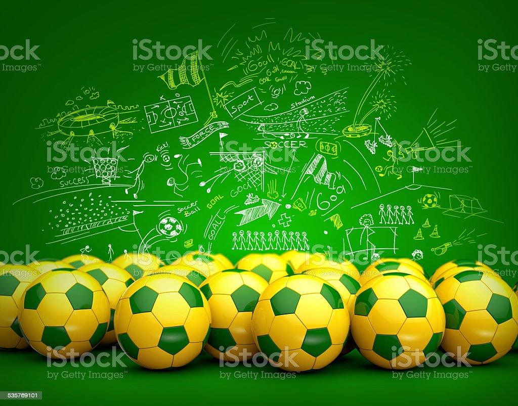 Brasil bolas de futebol - foto de acervo