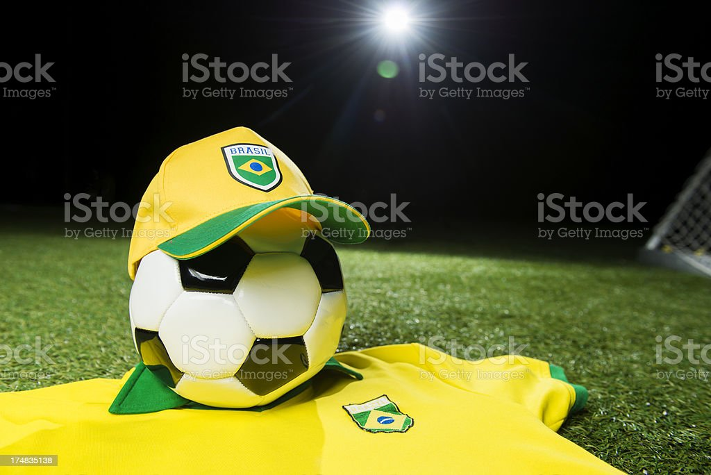 Brazil Soccer concept royalty-free stock photo